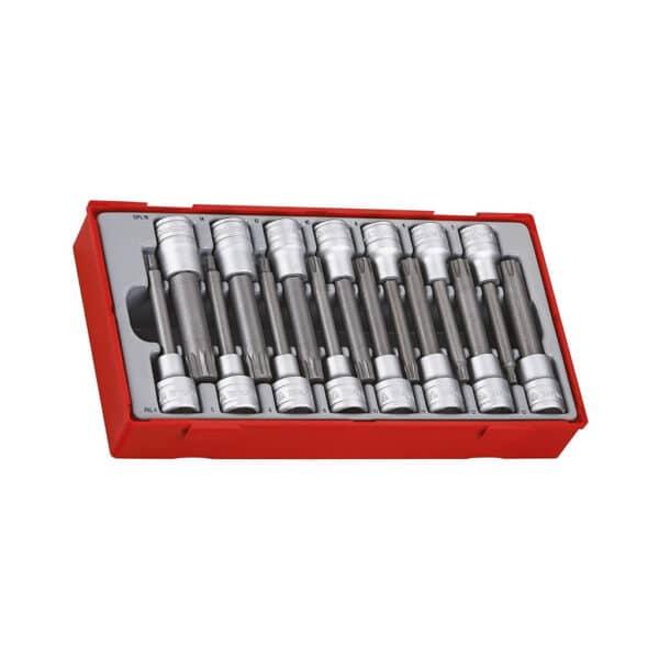 "1/2"" Ribe & Spline Socket Set 15pcs - Set Chei Tubulare Bit RIBE si SPLINE 15 Piese"
