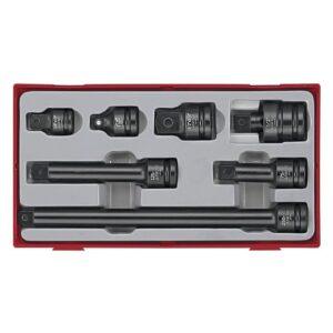 """Accesorii pentru Tubulare de Impact 1/2"""" 7 Piese - Teng Tools - 160680104"""
