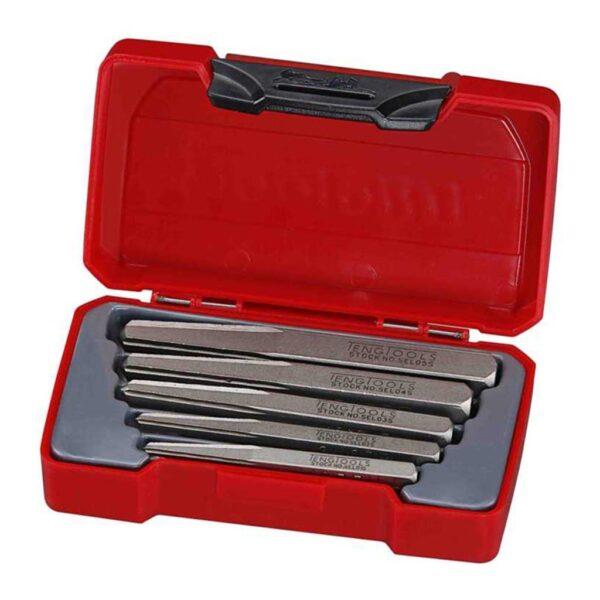 Extractoare Suruburi 5 Piese - Teng Tools - 172270100