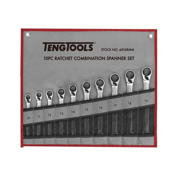 Set Chei Combinate 10 Piese - Teng Tools - 186430104