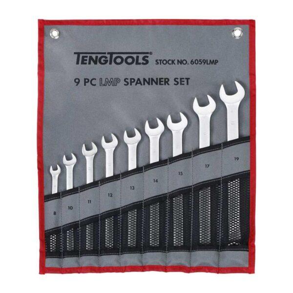 Set Chei Combinate Lungi 9 Piese - Teng Tools - 116520107