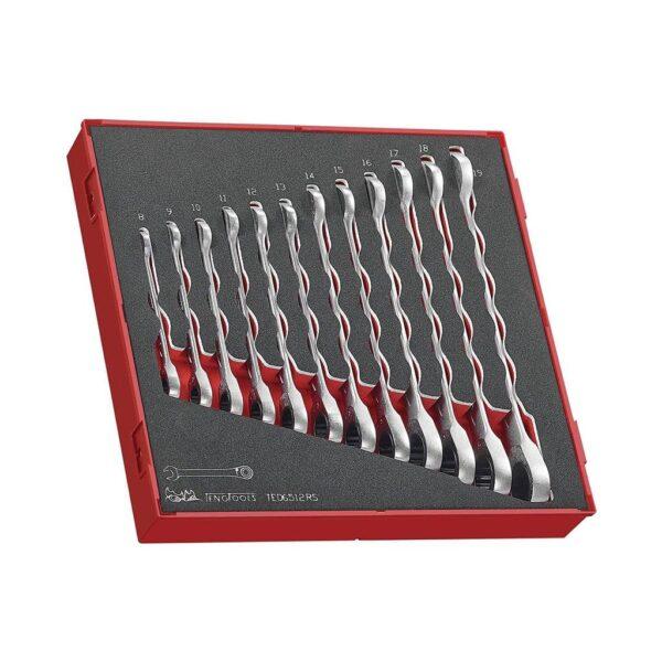 Set Chei Combinate cu Clichet 12 Piese - Teng Tools - 238270102