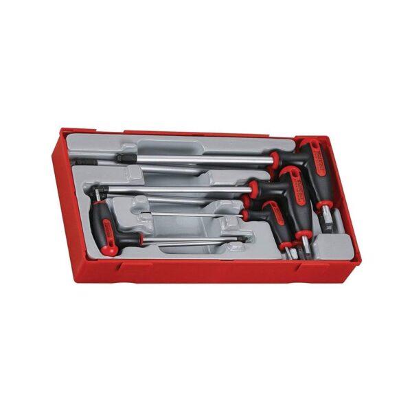Set Chei Imbus cu Bila si Maner T - Teng Tools - 68930106
