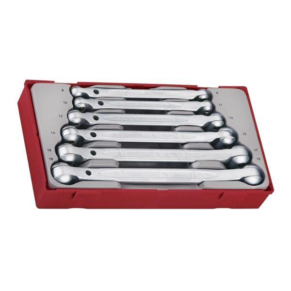 Set Chei Tubulare cu Cap Flexibil 6 Piese - Teng Tools - 128230109