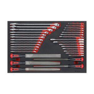 Set Chei si Pile 32 Piese - Teng Tools - 178870101