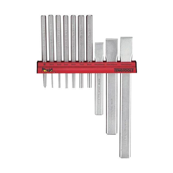 Set Dalti si Dornuri 10 Piese - Teng Tools - 199810102