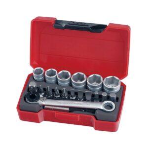 """Set Tubulare 1/4"""" 19 Piese - Teng Tools - 167340108"""