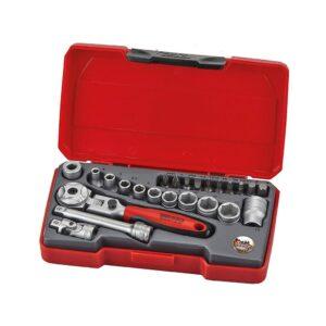 """Set Tubulare 1/4"""" 24 Piese - Teng Tools - 186901005"""