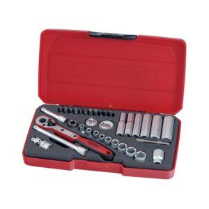 """Set Tubulare 1/4"""" 36 Piese - Teng Tools - 167290105"""