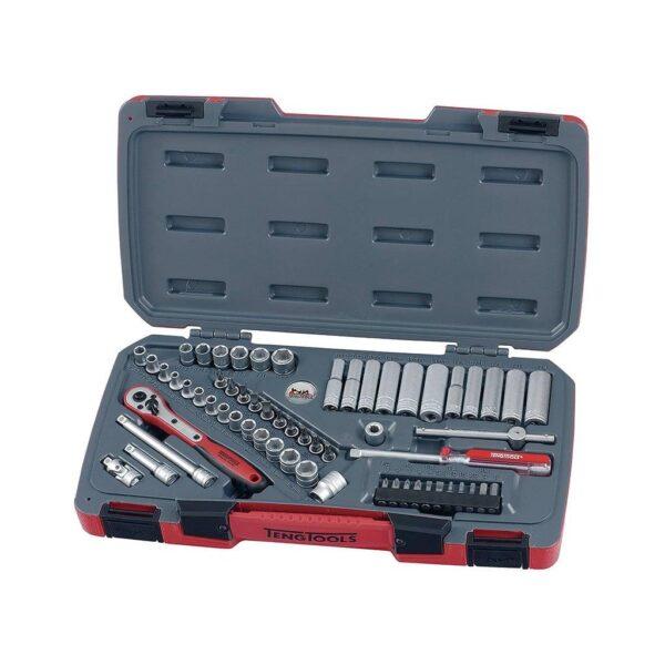 """Set Tubulare 1/4"""" 60 Piese - Teng Tools - 167260108"""