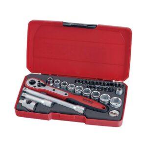 """Set Tubulare 3/8"""" 34 Piese - Teng Tools - 186901104"""