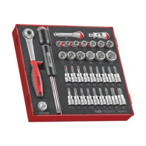 "Set Tubulare Drive 1/2"" 36 Piese - Teng Tools - 238250104"
