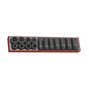 """Set Tubulare Impact 3/4"""" 15 Piese - Teng Tools - 122080104"""