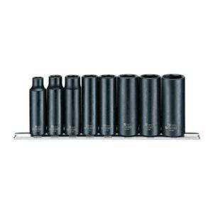"""Set Tubulare Impact Lungi 3/8"""" 8 Piese - Teng Tools - 114960107"""