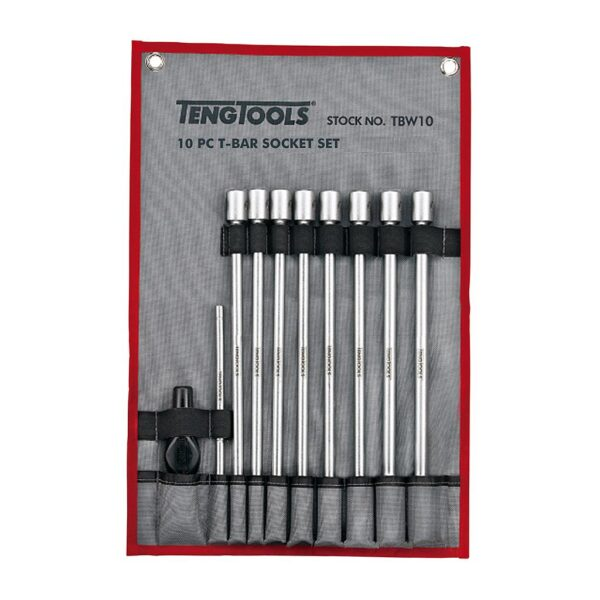 """Set Tubulare Lungi 3/8"""" Bara T 10 Piese - Teng Tools - 178791000"""