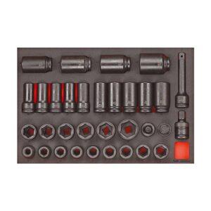 """Set Tubulare de Impact 3/4"""" - Teng Tools - 161700109"""