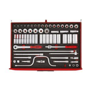 """Set tubulare 1/2"""" 63 piese - Teng Tools - 161670104"""
